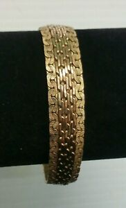 Lovely Vintage Mesh Woven 12k Gold Filled Bracelet By Winard