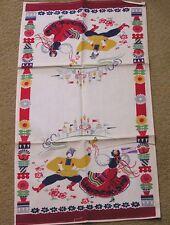 Vintage Wilendur Kitchen Towel Russian Dancers Castle Original Tag