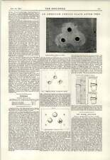 1891 American ARMOUR PLATE dopo test Betlemme PIASTRE Incisione