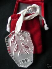WATERFORD 1987 12 DAYS CHRISTMAS CALLING BIRDS ORNAMENT