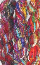 1 quality Recycled Sari Silk Fabric Yarn Woven 100 Grams-1 Skein