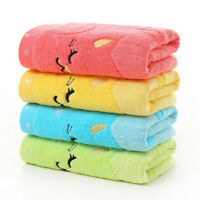 KQ_ Cotton Baby Infant Newborn Bath Towel Washcloth Feeding Wipe Cloth Bamboo Fi