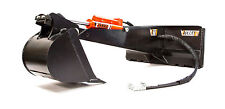 Skid Steer Backhoe - Fits Bobcat & More - Eterra E60 Backhoe - 5 Option Bundle