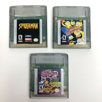 Nintendo Game Boy Color Game Lot of 3 Simpsons Spiderman Scooby Doo