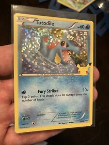 McDonald's 2021 Pokémon 25th Anniversary Promotional Holo Totodile Card Only