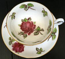 Vintage Royal Chelsea Red Rose Fancy Cup And Saucer Set