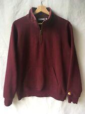 Carhartt WIP Chase Neck ZIP Sweater sudadera talla M Burgundy rojo. top!