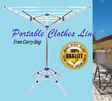 New Rotary Washing Line Outdoor Clothes Dryer Rack Folding Laundry 4Arm 4Legs