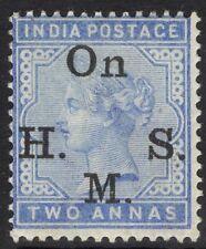 INDIA SGO42 1883 2a PALE BLUE MTD MINT