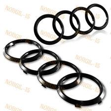 For Audi Rings Black Front+Rear A3 A4 S4 A5 S5 A6 S6 SQ7 TT Badge Emblem 2PCS