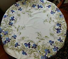 VINTAGE CALIFORNIA HAND PRINTS Tablecloth Fleur De Lis Iris - Bold Colors