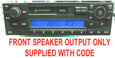 Volkswagen VW Polo Golf Transporter Lupo BETA Radio Stereo Tape Player with CODE