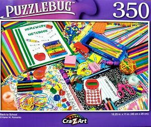 350 Piece Jigsaw Puzzle, Puzzlebug 18 in. x 11 in., Back to School NEW