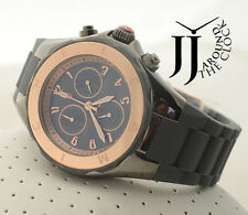 New Michele Tahitian TwoTone Rose Gold Gray Large JellyBean Watch MWW12F000064