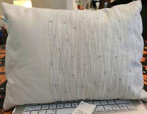 "Calvin Klein Home Presidio Oceanside 12"" X 16"" Decorative Pillow Rain NWT"