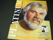 Kenny Rogers Promo Poster Ad Eyes That See In The Dark is platinum