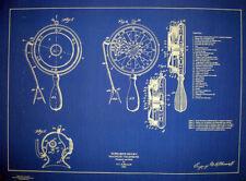 Vintage Diving Helmet Telephone Blueprint Plan 18x22 (220)