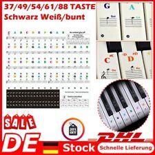 Klavier Keyboard Noten Aufkleber Klaviertasten Aufkleber 37/49/54/61/88 Tasten