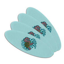 Turtle Friends Call Me Speed The Swan Princess Oval Nail File Emery Board 4 Pack