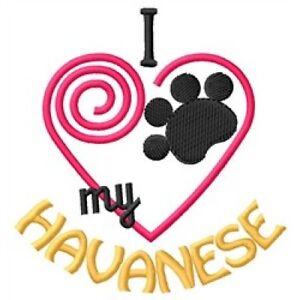 "I ""Heart"" My Havanese Fleece Jacket 1410-2 Size S - XXL"