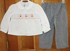 New W/Tags Silly Goose Smocked Two Piece Halloween Outfit ~ Size 5 year ~ Cute