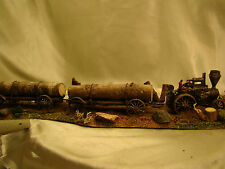 Steam Engine Tractor from historic pictures-custom weathered, painted  HO -lot 6