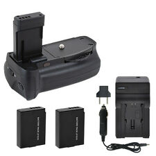 Vivitar Battery Grip BG-C7 + 2 LP-E10 Batteries + Travel Charger for Canon T3 T5