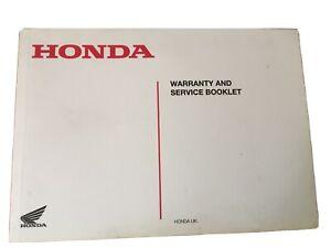 Honda Service And Warrenty Book New Blank