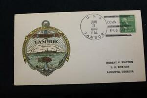 NAVAL COVER/PC 1940 SHIP CANCEL COMMISSIONING USS TAMBOR (SS-198) (5490)