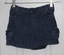 Faded Glory Girls Sz 5T Jean Shorts w/Elastic Back EUC