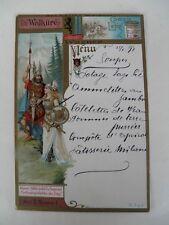 Alte Liebig Menükarte 1898  Die Walküre  Act II. Scene 1 Wotan
