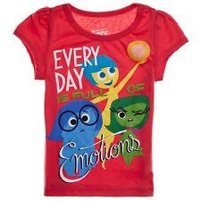 Disney Pixar Inside Out Joy Disgust Emotions Girls Pink S/S Tee T-Shirt Top 5 6