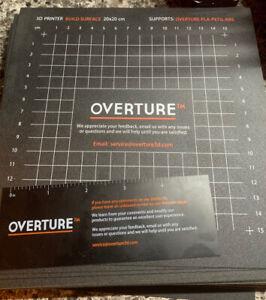 10 PACK Overture 200x200 3D Printer Build Surface Sheet PLA ABS PETG TPU Nylon