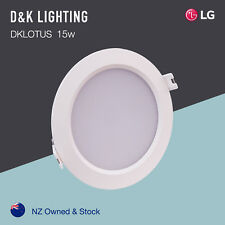 15W LED Downlight kit LG SMD 120mm cutout Warm White 3000K Dimmable Drive