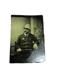 Nypd Tintype Brooklyn Policeman