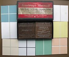 Vintage Salesmans Samples ARMSTRONG'S MONOWALL Box W/Tiles Armstrong Cork Co