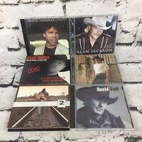 Country Music CDs Lot Of 6 Male Artists Alan Jackson Garth Brooks Chad Brock