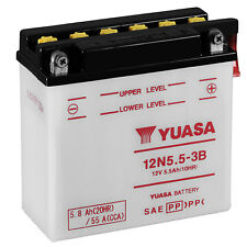 Genuine Yuasa 12N5.5-3B 12V Motorbike Motorcycle Battery