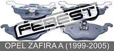 Pad Kit, Disc Brake, Front For Opel Zafira A (1999-2005)