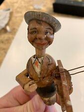 More details for antique collectable novelty german man bottle stopper cork, german puppet rare