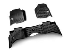 Genuine Dodge RAM All Weather Rubber Floor Mats Front & Rear Black
