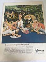 Barwick Ad Carpet Original Print Grass Mats Luau Hawaiian Polynesia Color