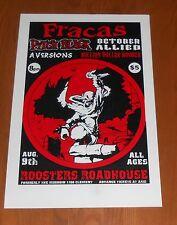 Fracas Pitch Black October Allied Poster Original Tour Promo 19x13 RARE