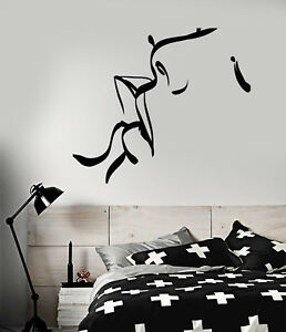 Vinyl Wall Decal Abstract Kissing Man Woman Lips Love Stickers (2414ig)