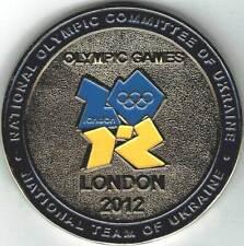 Very Rare 2012 London Ukraine Olympic Team Games Mark Noc Medallion