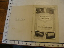 vintage Paper--HOW TO BREED LIVE STOCK info booklet early 1900's