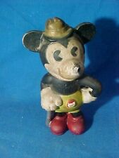 """1930s MICKEY MOUSE w CANE Disney BISQUE 4"""" FIGURE Made in Japan"""