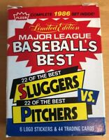 1986 Fleer Baseball's Best Sluggers vs Pitchers Complete Set