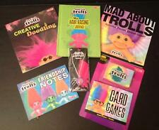 Good Luck Trolls Target Exclusive Set 6 NWT Necklace Cards Books Journal Puzzles