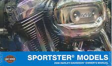 2008 HARLEY-DAVIDSON  SPORTSTER MODELS OWNERS MANUAL, PN 99468-08*